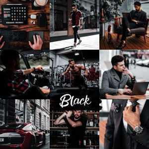 preset black - męski czarny ciemny filtr lightroom